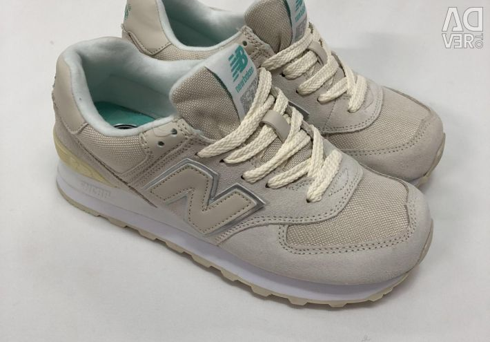Кросівки New Balance Білі замшеві