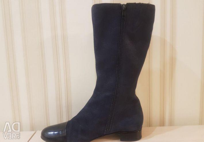 Bartek Suede Σκούρο μπλε μπότες