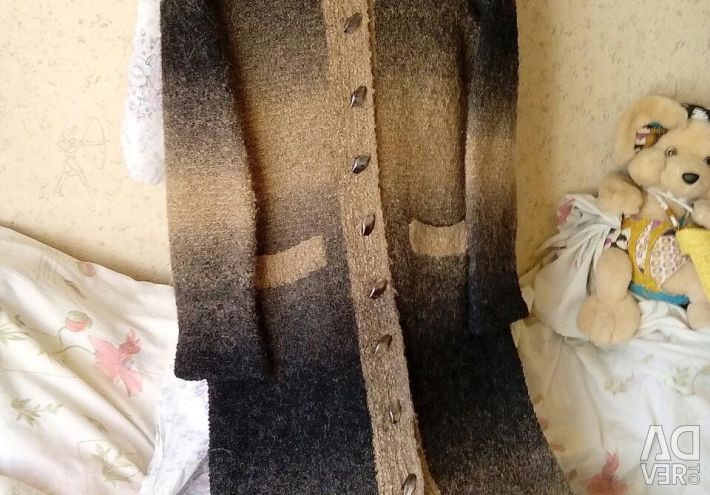 Coat knitted, long. Р-р48-50