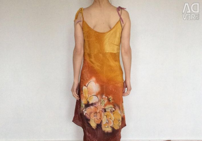 Mătase naturală batik sundress