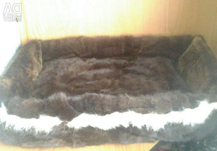Лежанка из меха норки