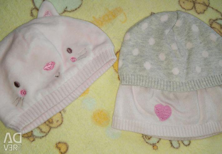 Комбінезон для дівчинки, Carters, 3м + 3 шапки