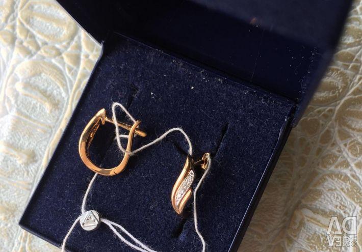 Earrings new with diamonds