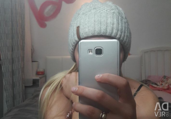 Cap female knitted light gray beautiful