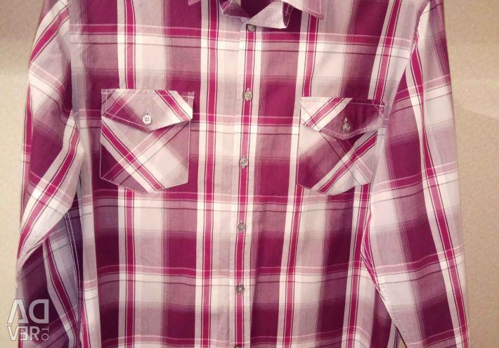 Ανδρικό πουκάμισο σε ένα κλουβί σ. 42 (L) μακρύ