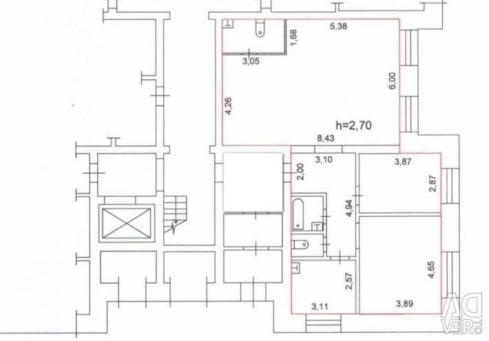 Квартира, 3 кімнати, 101.3 м²