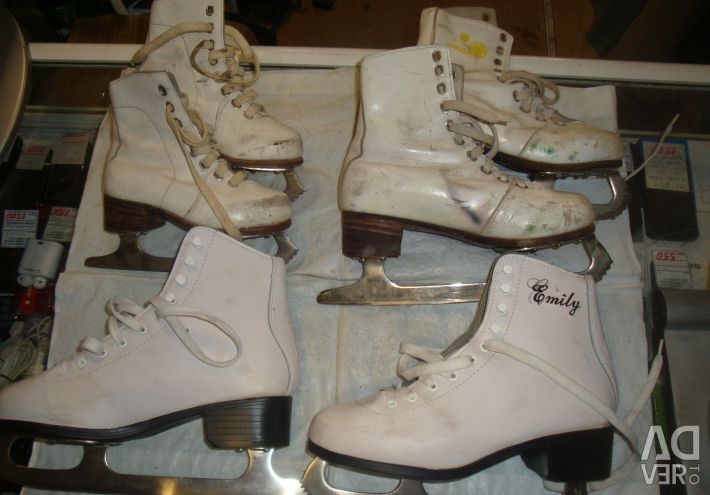 Children's skates of the USSR p. 17.5 - 22.5 - 39 leather