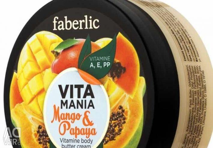 Κρέμα γάλακτος σώματος για μάνγκο & παπάγια