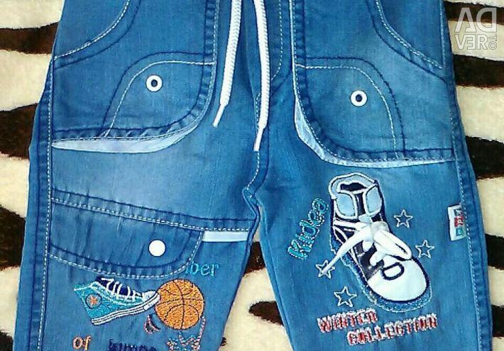 Новые бриджи джинсовые детские