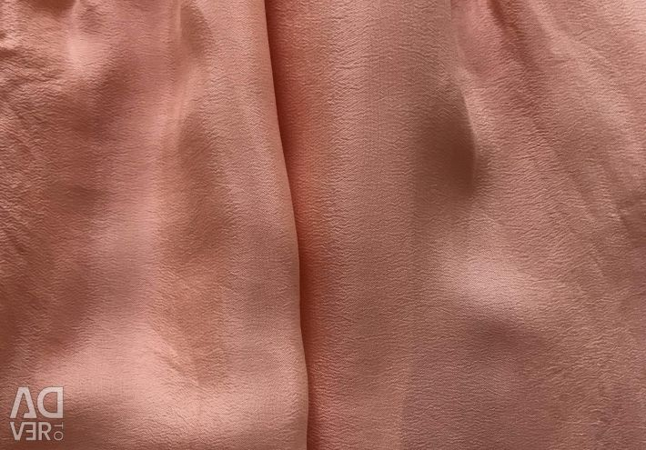 New skirt of peach color