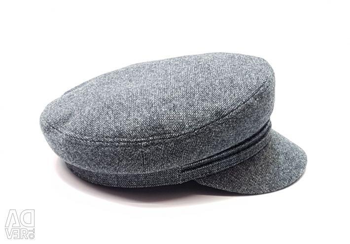 Капитанка кепка чоловіча вовняна (сірий)