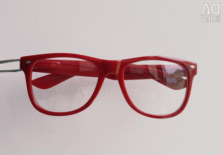 Glasses red without diopters