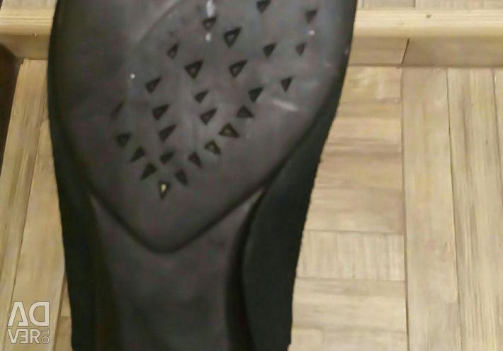 Χειμερινά μισά μπότες σουέτ φυσικά