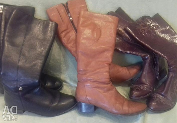 Pure leather boots.