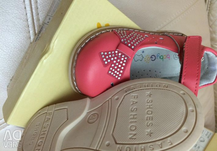 Shoes with crystals Leather 20 and once. 23