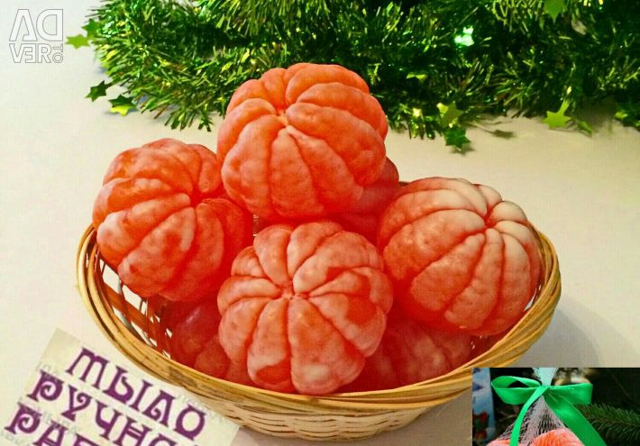 Ароматные мыльные мандарины с эфирным маслом