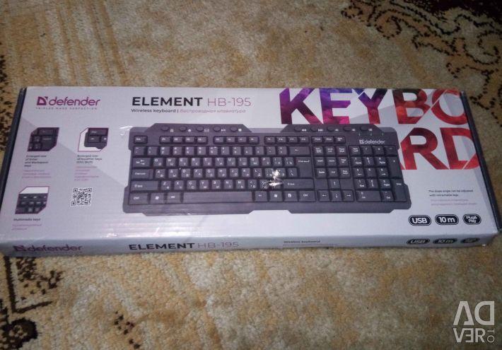Wireless keyboard DEFENDER Element HB-195