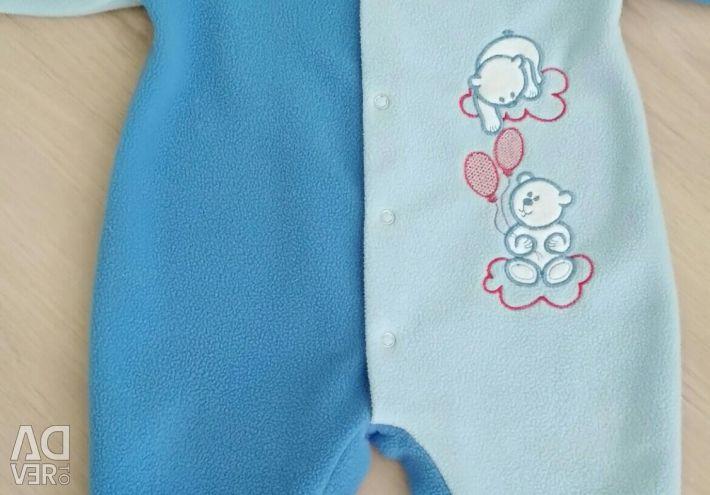 Overalls for children, fleece 74-80
