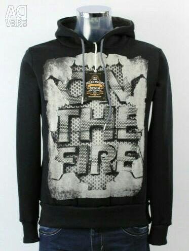 Men's sweatshirt with fleece