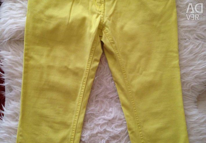 Pantolon pembe, sarı