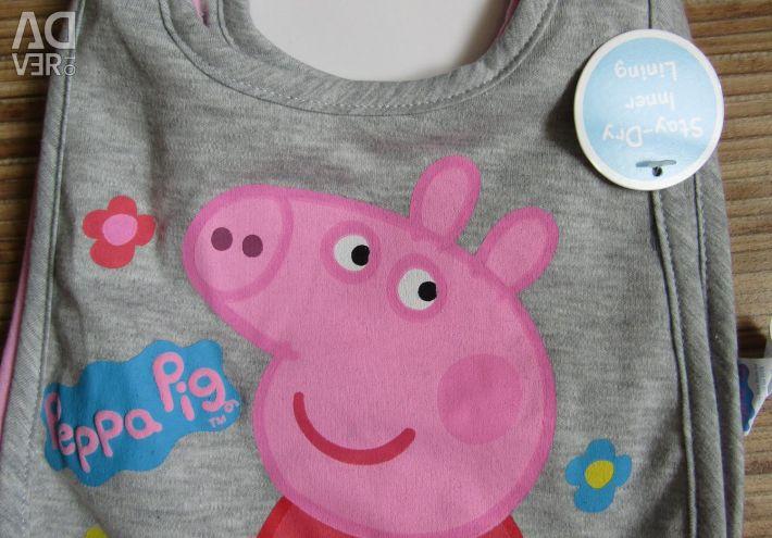 Bib pig Pepa 3pcs in a set