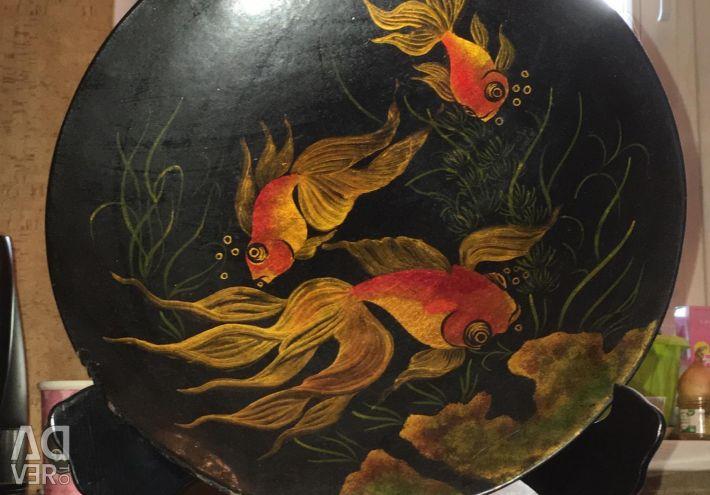 Dekoratif tabak Pano. El boyalı Çin