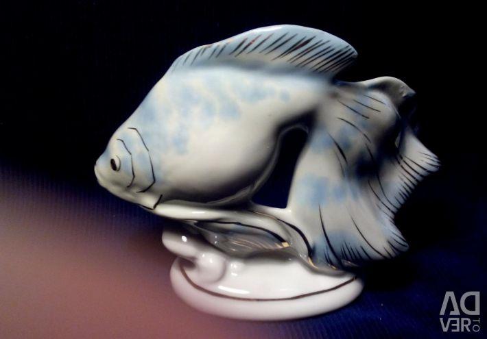 Figurine Porcelain Fish of the USSR Riga Rarity