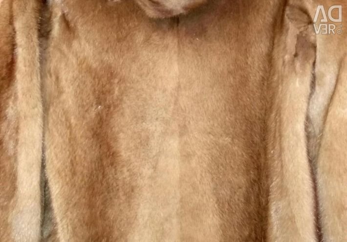 Mink παλτό με κουκούλα. Ελλάδα. L