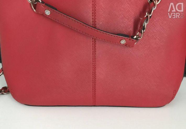 DKNY kırmızı orijinal çanta