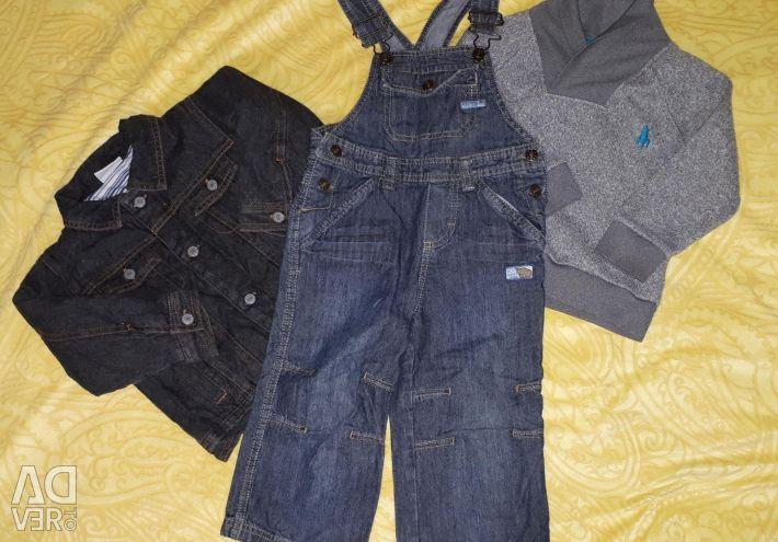Πακέτο ρούχων για ένα αγόρι 80-86 εκ