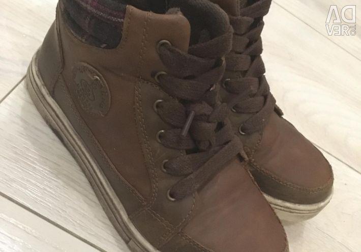 Autumn boots for a boy