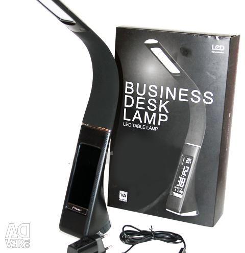 Table lamp + thermometer + clock + alarm clock