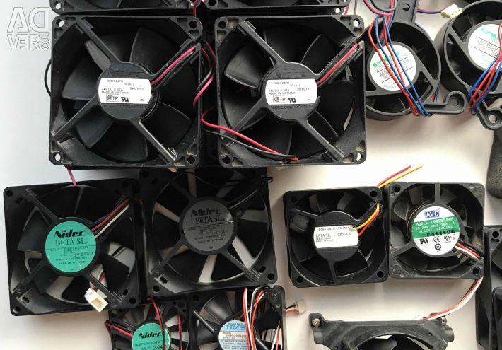 Вентиляторы Кулеры