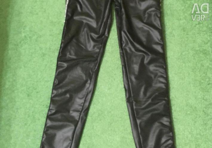 Leggings leggings leather 44-46 new