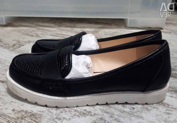 Loafers. Eco-leather