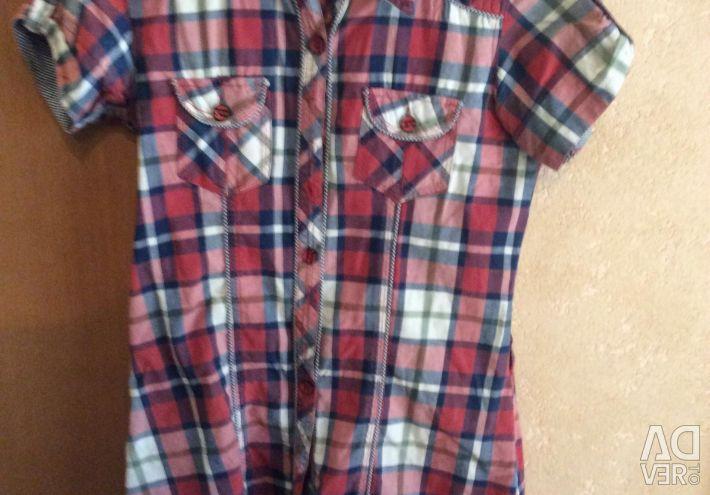 Yeni gömlek,% 100 pamuk, Hindistan, model 2018