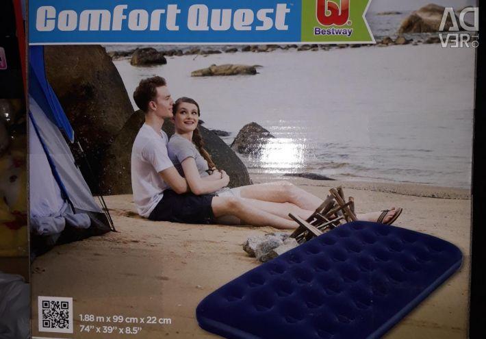 Inflatable mattress (188х99х22 cm)