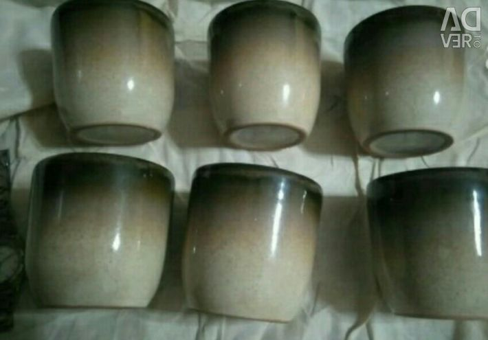 Γυαλιά κεραμικά USSR / Κάψες για κάκτους, 6 τεμ.