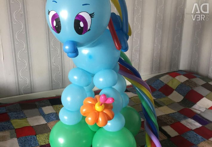 Rainbow Pony and Pinkie Ball Pie