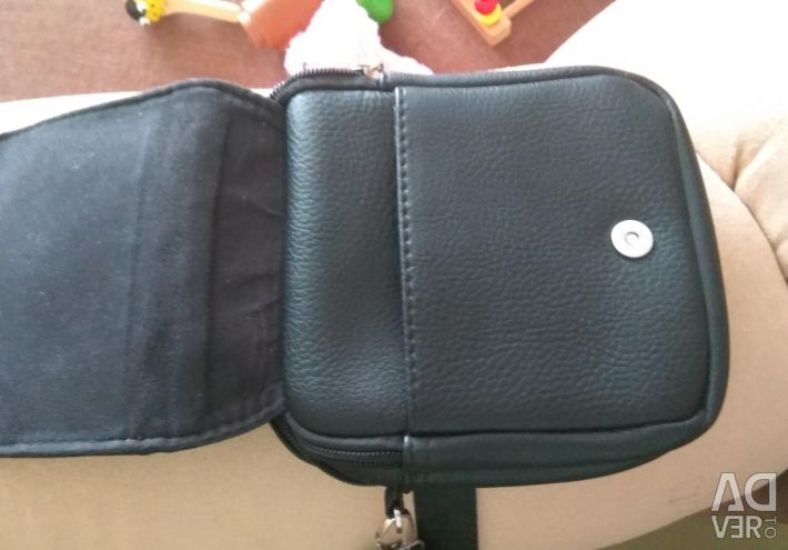 Μαύρη τσάντα ανδρών σε άριστη κατάσταση