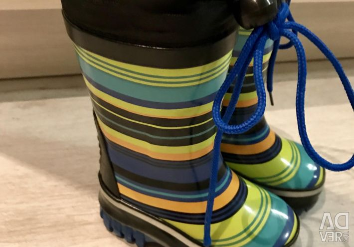 New Rubber boots on a heater