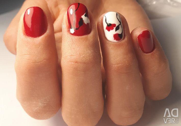 Shellac coating, gel nails