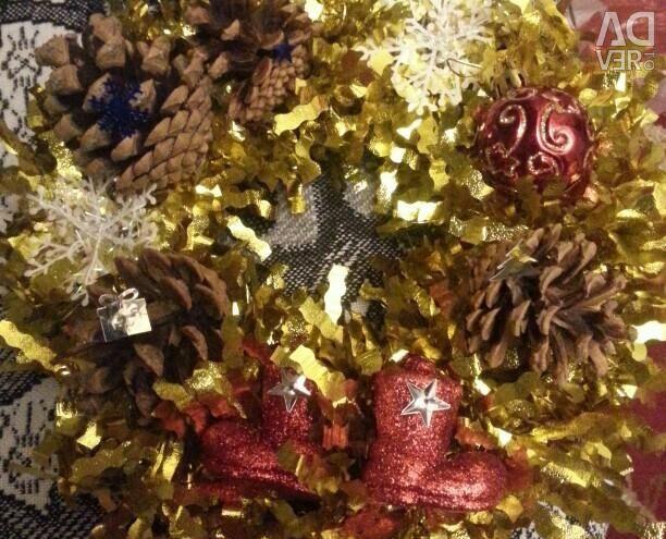 New Year's wreaths handmade