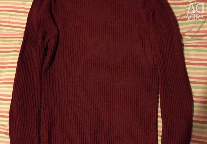 Polo-gât feminin roșu - roșu