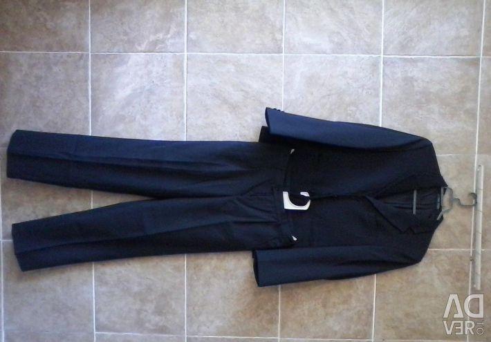 Van Cliff Siyah Çizgili Takım Elbise