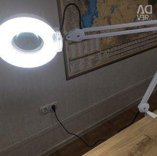 Table lamp magnifier