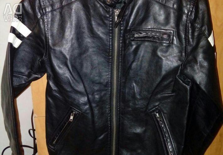 Eco-leather jacket height 128