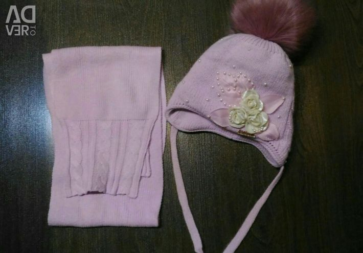 Winter hat and scarf, 5-6 years