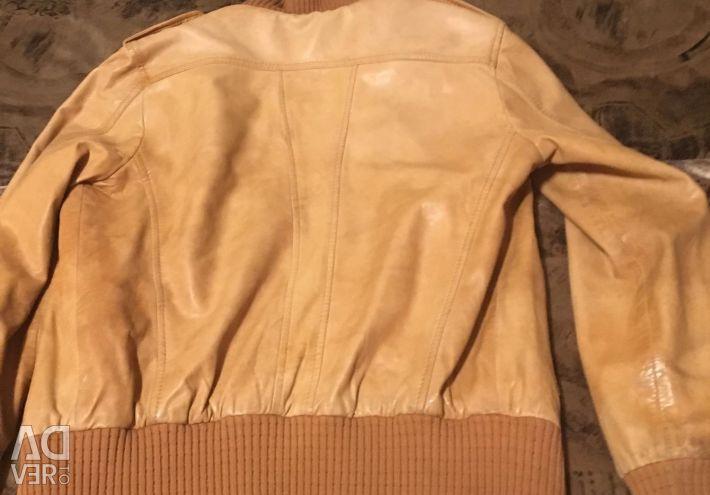 Leather jacket 46 size used