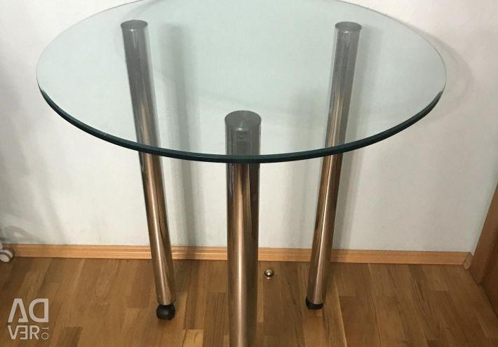 Стеклянный барный стол